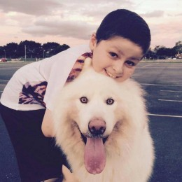 Mikey with his dog Bundy