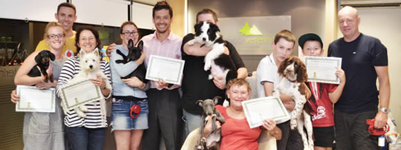 Puppy training graduates