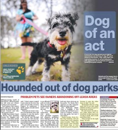 Pine Rivers Press article on dog parks Sep 2014