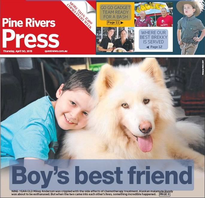 Pine Rivers Press cover - Boy's best friend article