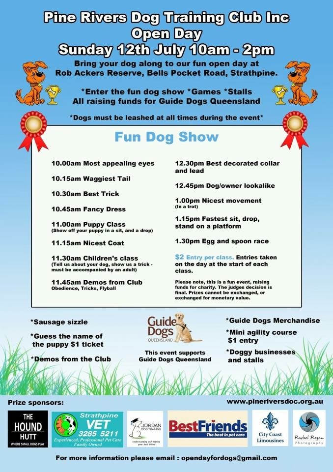 Pine Rivers Dog Club Open Day
